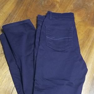 💜 Lee Royal Plum Slim Straight Jeans